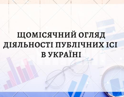 Щомісячний огляд діяльності публічних ІСІ в Україні (відкриті, інтервальні, закриті фонди). Вересень 2021 року