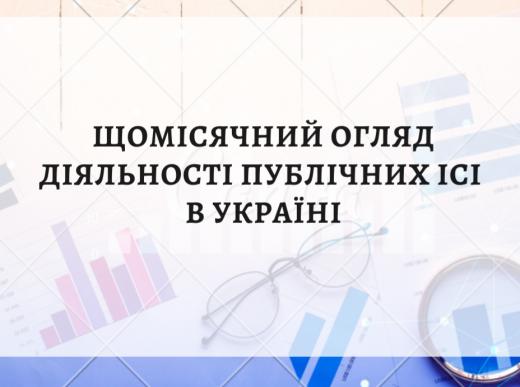 Щомісячний огляд діяльності публічних ІСІ в Україні (відкриті, інтервальні, закриті фонди). Жовтень 2020 року